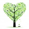 Stock Vector: Valentine tree