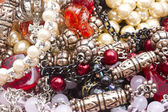 Beautiful string of beads — Stock Photo