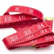 Red tape measure - Stock Photo
