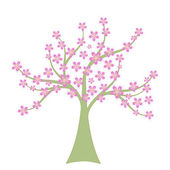 Baum Frühling — Stockvektor