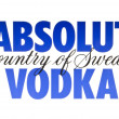 ABSOLUT VODKA - 图库照片