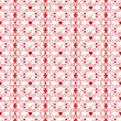 Seamless Floral and hearts Pattern — Vettoriali Stock