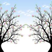 Ağaç bahar çiçeği — Stok Vektör