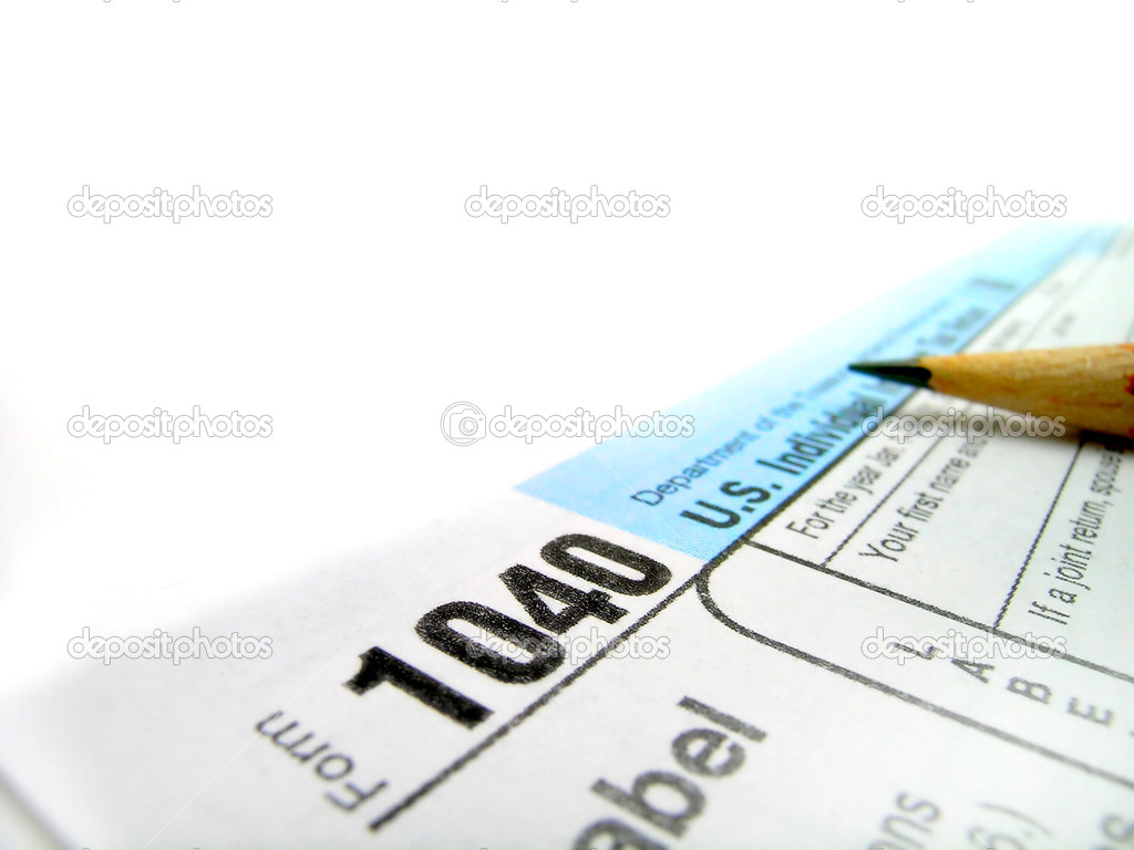 Detail closeup of current tax forms for IRS filing  Stock Photo #10598371