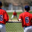 Baseball Players at Game - Foto Stock
