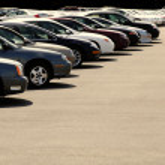 Cars on Car Lot — Stock Photo
