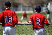 Baseball Players at Game — Stock Photo