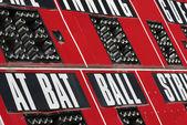 Scorebord baseball — Stockfoto