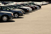 Cars on Car Lot — Stock Photo