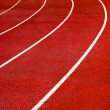 Bright Red Running Track — Stock Photo