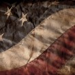 Stock Photo: Old AmericFlag