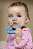 Baby Teething — Stock Photo
