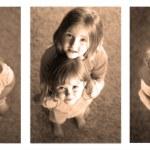 Little Girls Sequence Photograph — Stock Photo