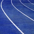 Running Track Blue — Stock Photo