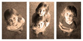 Little Girls Sequence Photograph — Stock Photo
