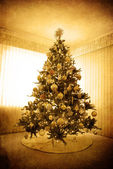 Antique Christmas Tree — Stock Photo
