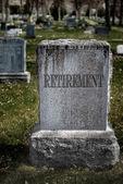 Grave for Retirement — Stock Photo