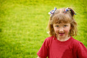 Little Girl Sticking Tounge Out — Stock Photo