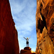 Girl Hiking in Arches National Park — Stock Photo