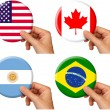 Stock Photo: Flag icons set 1