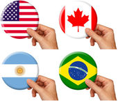 Flag icons set 1 — Stock Photo