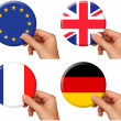 Stock Photo: Flag icons set 2
