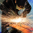 Stock Photo: Grinding metal