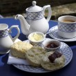 Traditional english cream tea - Stock Photo