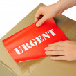 Urgent delivery — Stock Photo