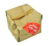 Karton kutu hasarlı — Stok fotoğraf