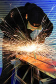 Grinding metal — Stock Photo
