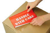 Handle with care — Stock Photo