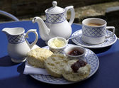 Traditional english cream tea — 图库照片