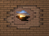 Wall sunset — Stock fotografie