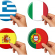 Stock Photo: Flag icons set 4