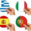 Flag icons set 4 — Stock Photo #8225134