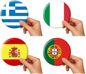 Flag icons set 4 — Stock Photo