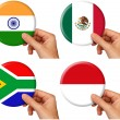 Flag icons set 6 — Foto de Stock