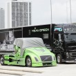 Hybrid Diesel Volvo trucks — Stock Photo