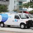 Directv Work truck in Miami FL - Stock Photo