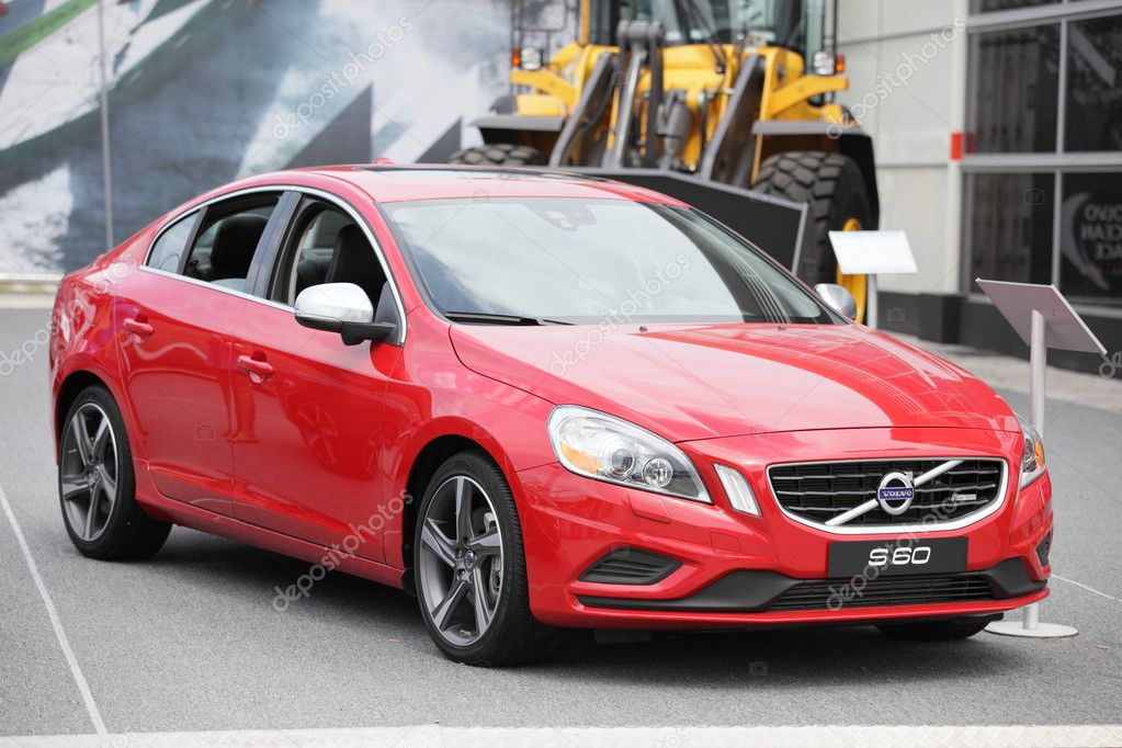 MIAMI, FL USA. 2012 red Volvo S60 at the Downtown Miami Race Village in Miami FL. 05/17/2012 — Stock Photo #10622124