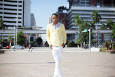 Man posing at Downtown Miami — Stock Photo