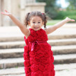 Stock Photo: Child with arms outstretched