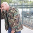 Restless veteran soldier - Stock Photo