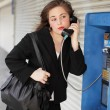 Stock Photo: Businesswoman talking on the phone