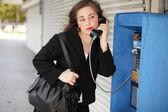 предприниматель, разговаривает по телефону — Стоковое фото
