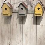 Folk Art Birdhouses — Stock Photo