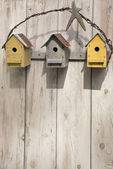 Folk Art Birdhouses — Stock Photo