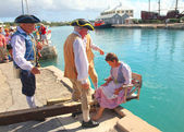 St. Georges, Bermuda Dunking Ceremony Historical Reenactment — Stock Photo
