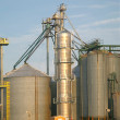Grain Silos - Stock Photo